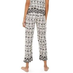 Topshop Intimates & Sleepwear - Topshop Windowpane Embroidered Trousers, Size 6